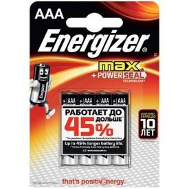 Батарейки Energizer MAX E92/AAA 1,5V - 4 шт.