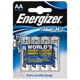 Батарейки Energizer Ultimate Lithium L91 AA - 4 шт.