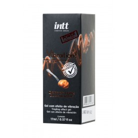 Жидкий массажный гель VIBRATION Dulce de Leche с ароматом сгущенного молока и эффектом вибрации - 17 мл.