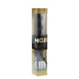 Черная ёлочка-насадка для двойного проникновения Mojo Bumpy - 15 см.