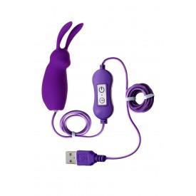 Фиолетовое виброяйцо с пультом управления A-Toys Bunny, работающее от USB